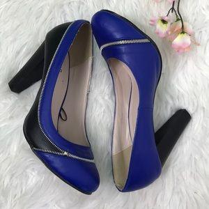 Torrid Blue Heels zipper pumps women shoes 11
